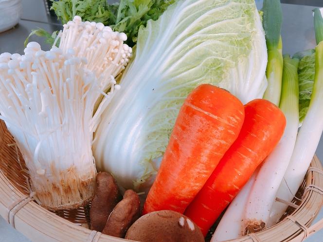 地元で採れた新鮮野菜