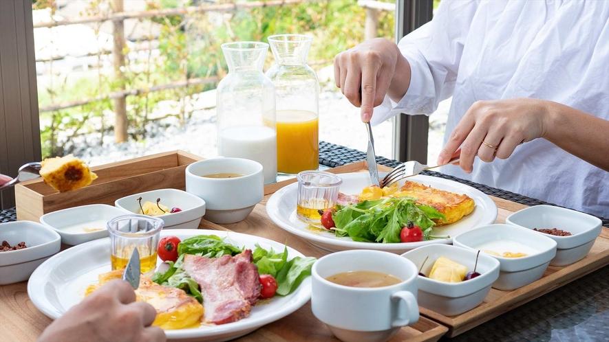 朝食メインの一例(フレンチトースト)