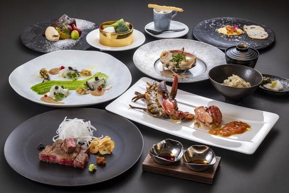 【Trsuty Premier × 鉄板】鉄板焼 凛庭  季節のディナーコース付き 《夕朝食付き》