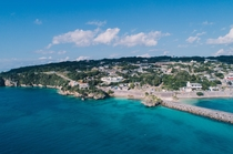 古宇利島の青い海を近くに感じることが出来ます