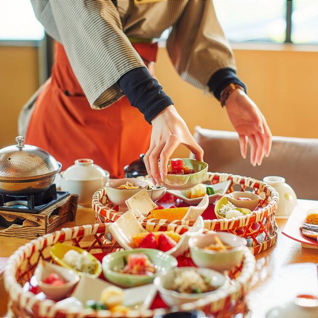 【朝食】朝夕ともお部屋にてのご提供となります