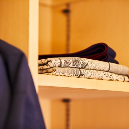 全室に浴衣とパジャマをご用意