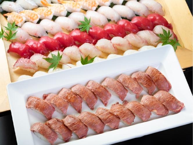 プロの料理人が握る絶品のおおいた和牛「炙り寿司」
