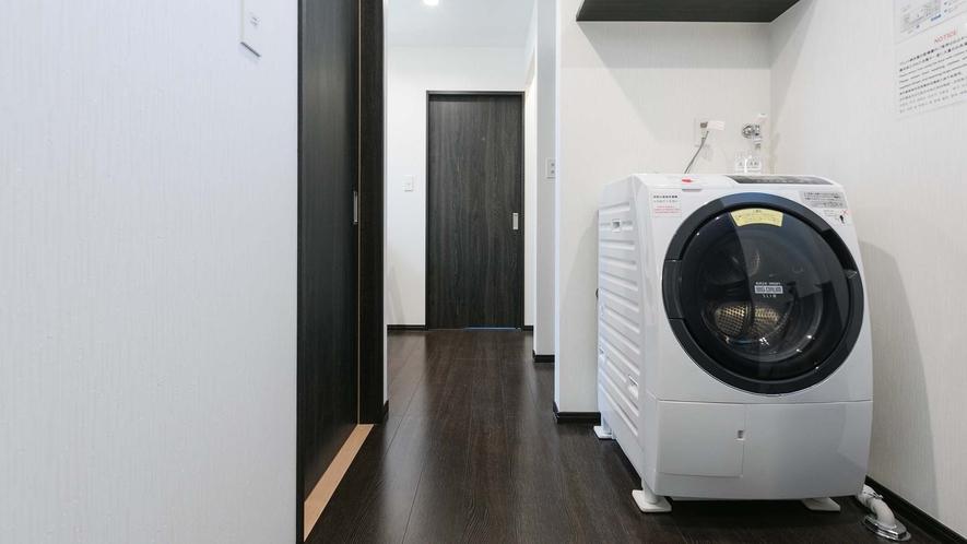 ・ドラム式洗濯機は乾燥機完備付で長期滞在にも安心