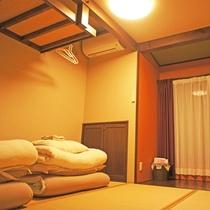 *【和室】シンプルな畳のお部屋です。お布団は人数分ご用意致します。