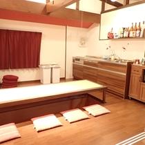 【施設】共同スペース(リビング&キッチン)/飲食はこちらで可能です