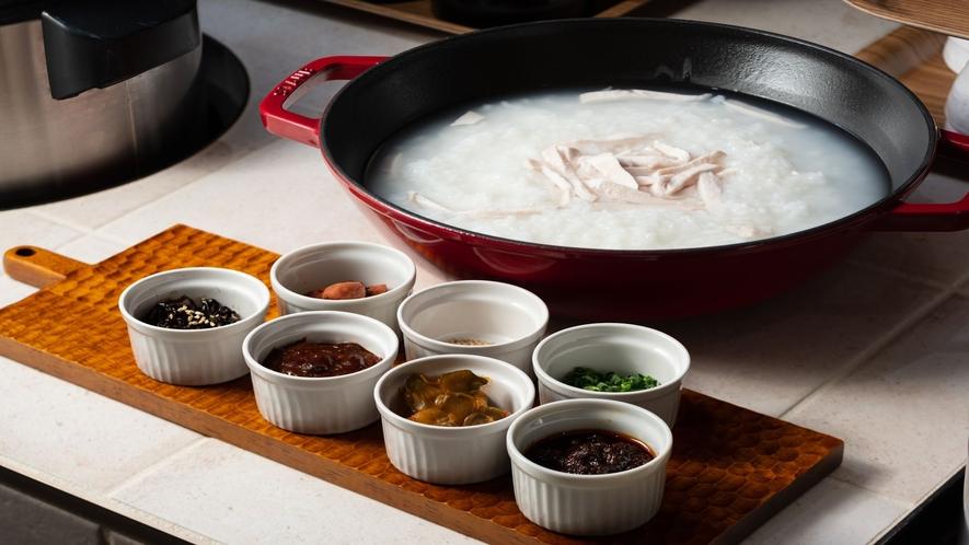 中華粥と選べるトッピング