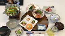 *【ボリュームUP!ご夕食一例】スタンダードのご夕食に3品プラスした全11品の創作料理