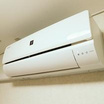 *【客室一例/エアコン】冷暖房全室完備。快適にお過ごしいただけます