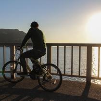 *【レンタサイクル】早起きして朝日を見たり海に沈む夕日を眺めたり贅沢な時間です