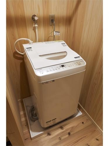 洗濯機完備 洗剤付きです(1回分の2袋)