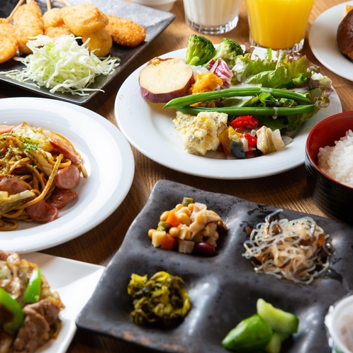 種類豊富なLabiyoriの朝食ブッフェ