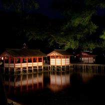 厳島神社 夜景(写真提供:広島県)