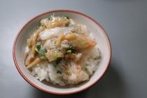 【朝食一例】当館特製蟹餡掛け御飯