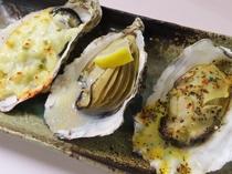 牡蠣の三種焼き