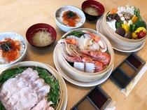 北海道産の食材を中心としたせいろ蒸し