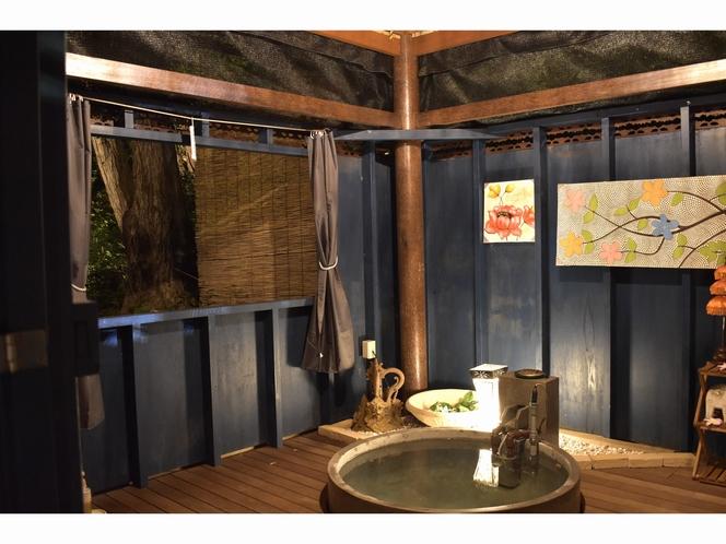 森の中の貸切露天風呂 要予約制 無料
