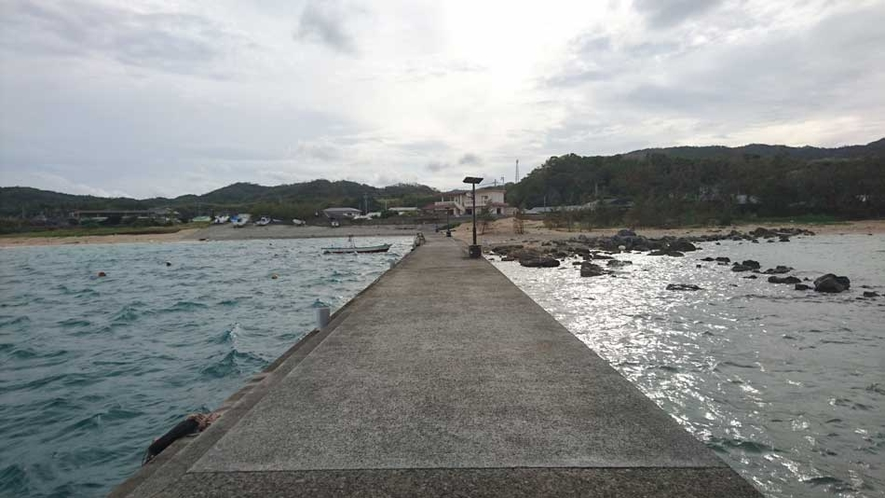 釣りが楽しめる須野堤防