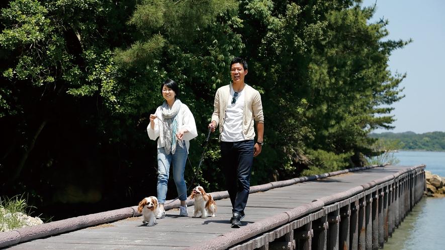 *敷地内にはお散歩にちょうどいい桟橋やビーチがあります。