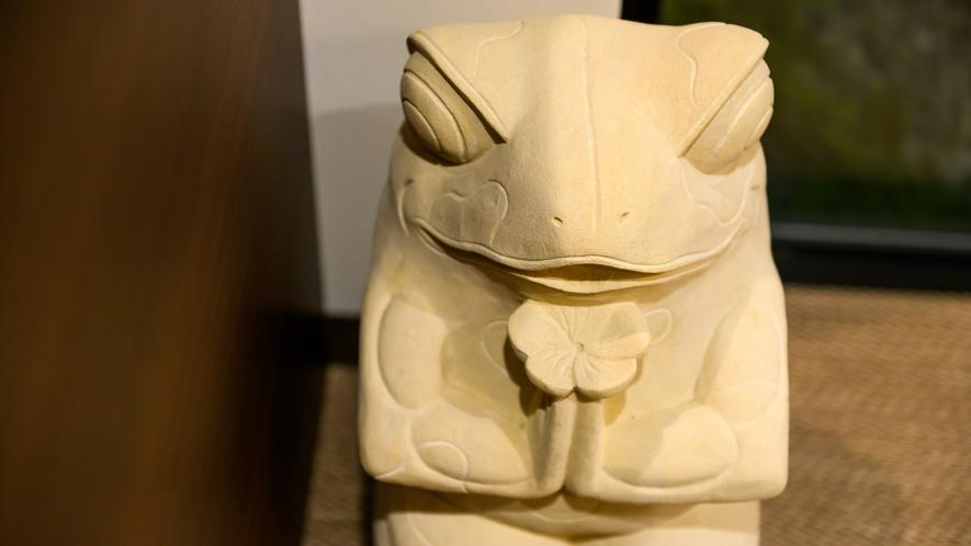 【大浴場】カエルのオブジェ♪