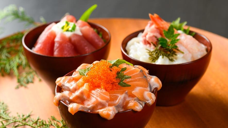 朝食バイキング】マグロやサーモンなどの海鮮を朝から贅沢に♪(写真は一例です)