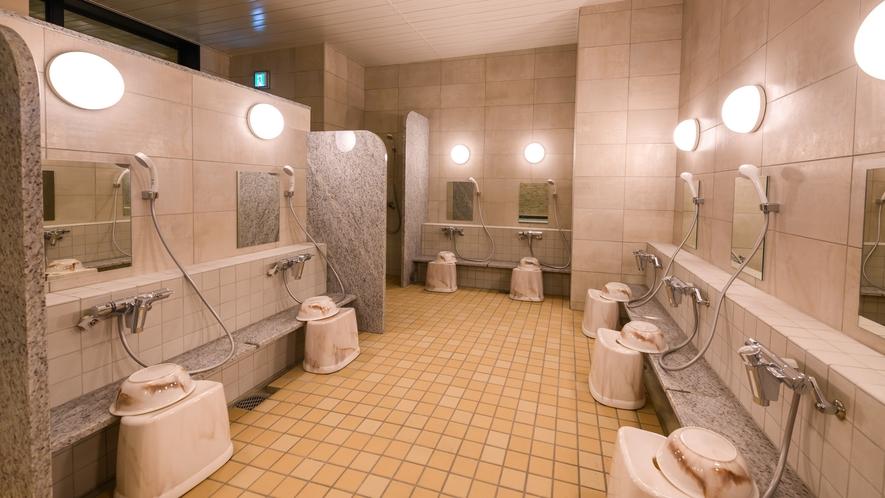 【女性大浴場】シャンプーバイキングからお好きなものをお持ちください♪