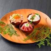 【朝食バイキング】マグロやサーモンなどの海鮮を朝から贅沢に♪(写真は一例です)