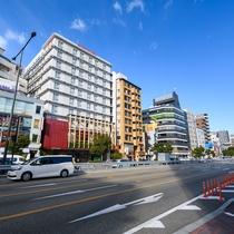 【外観・朝】大国町駅は御堂筋線と四つ橋線の二路線となっております♪