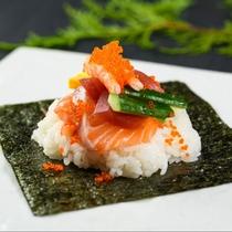 【朝食バイキング】偶数月限定!朝から手巻き寿司♪