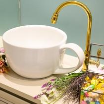 【ウェルカムサービス 一例】コーヒーカップをイメージした流し台です♪