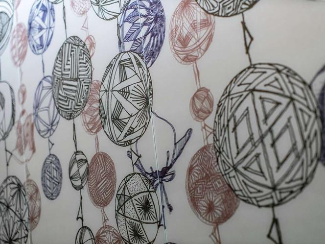 女湯には水郷・柳川でひな祭りの時期に飾られる吊るし飾り「さげもん」をデザイン