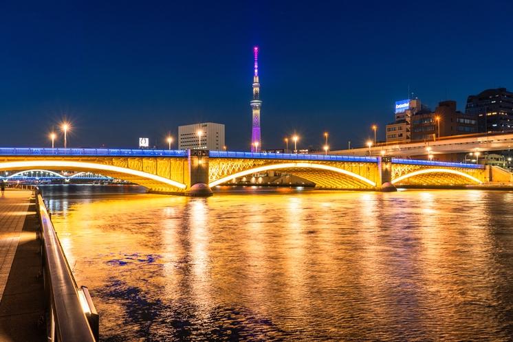 蔵前橋と東京スカイツリー