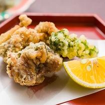*夕食一例/すっぽんのから揚げ。からっと揚がり身は引き締まり噛むほどにうま味が!