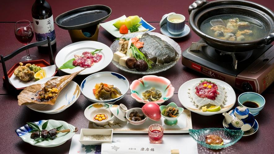 *夕食一例/すっぽんフルコース!滋養強壮、健康増進、美容効果など効能たっぷり。