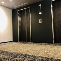エレベーターホールもリニューアル