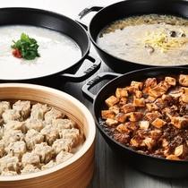 大好評の朝から麻婆豆腐や酸辣湯麺