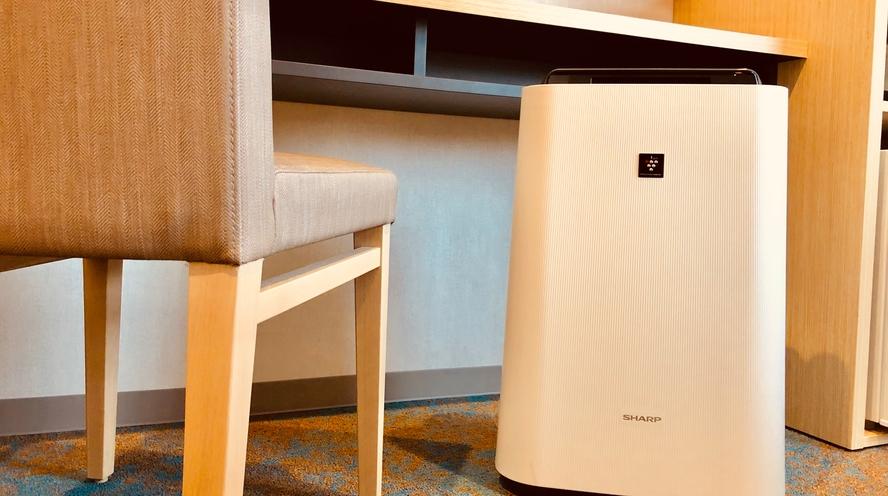 全室に加湿機能付空気清浄機完備