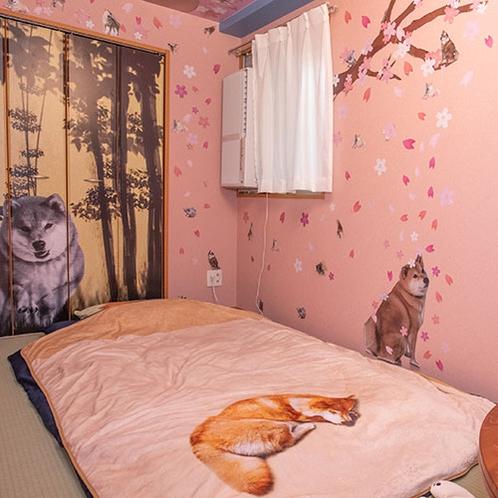 【サクラの部屋】寝具はまるの枕&毛布