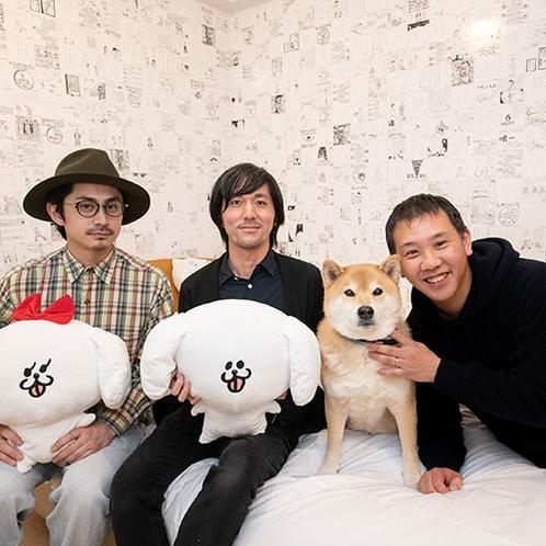 まるごとホテルを手がけたパントビスコさん、田中達也さん、小野慎二郎さん(左より)