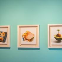 【パンの部屋】部屋にはパンにちなんだ田中さんの作品を展示