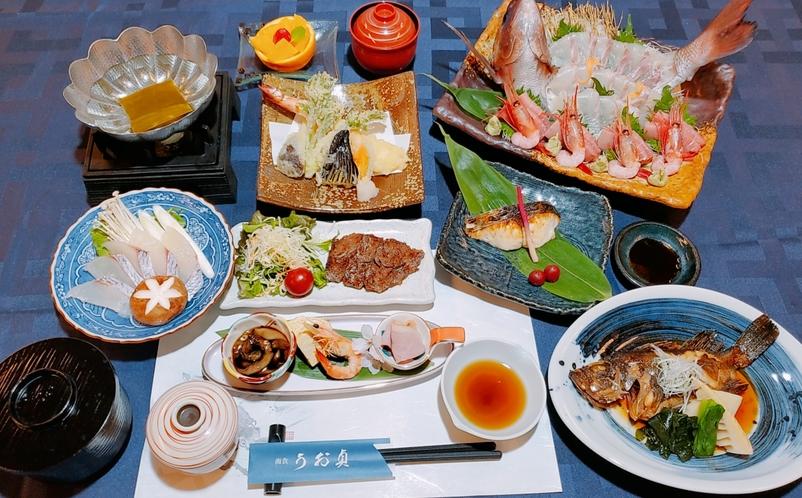 敦賀真鯛 夕食例です。