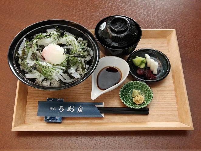 うお貞のイカ丼 1450円税別 うお貞のぶっかけイカ丼です!