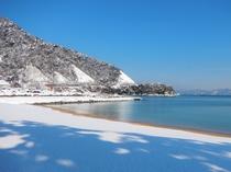 当ホテル目の前の雪景色