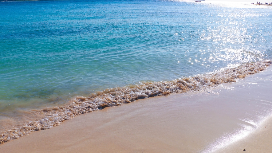 東洋一の美しさの前浜ビーチまで車で3分