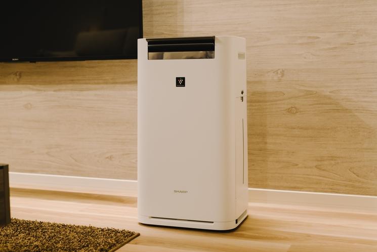 【空気清浄機】全客室に完備!過失機能もついてます。