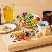 SHARIロール寿司朝食膳