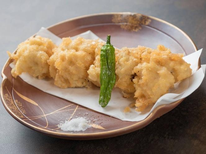 姉妹店「料理屋一刀」有料メニュー例:ハモの天ぷら