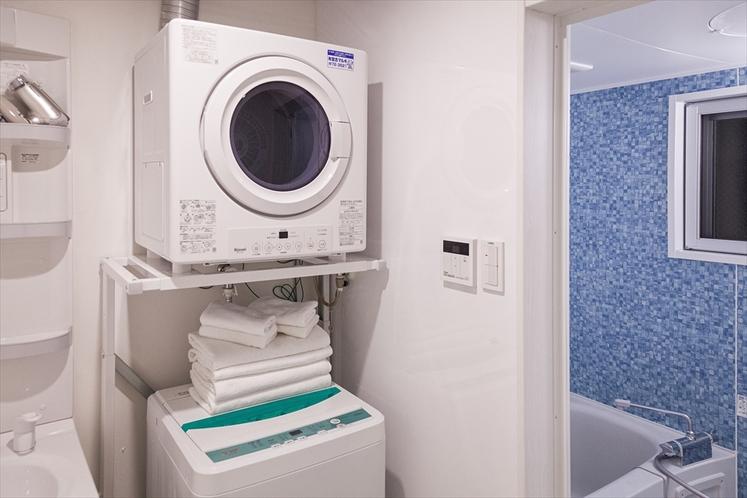 ふくぎスイートには大型の洗濯機を完備