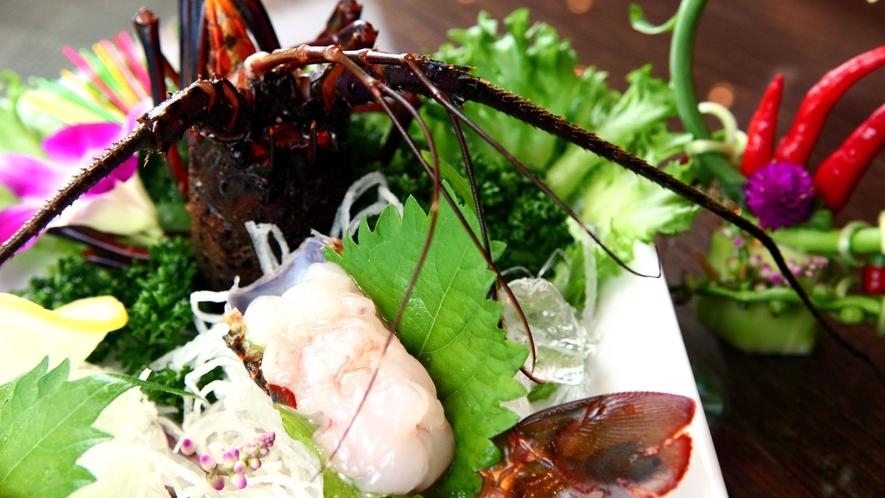 ◆スタンダード一例◆伊勢海老と旬の魚を盛り込んだお造り
