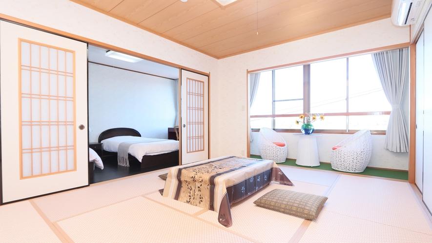【和洋室】伝統的な日本を感じさせる和室とベッドルームを配した洋室でお寛ぎください♪